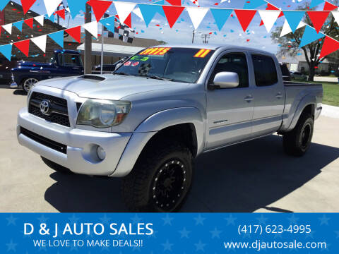 2011 Toyota Tacoma for sale at D & J AUTO SALES in Joplin MO