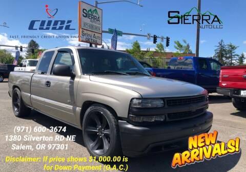 2002 Chevrolet Silverado 1500 for sale at SIERRA AUTO LLC in Salem OR