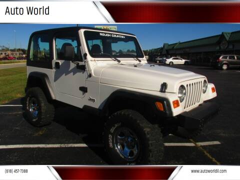 2001 Jeep Wrangler for sale at Auto World in Carbondale IL