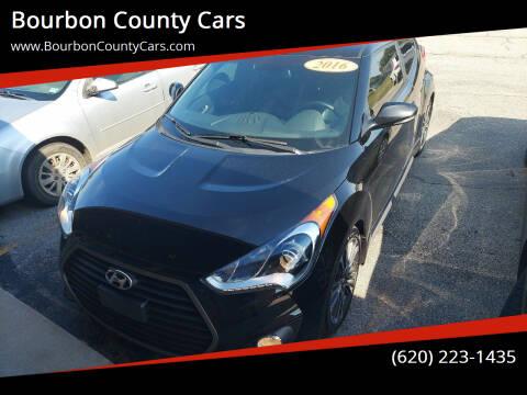 2016 Hyundai Veloster for sale at Bourbon County Cars in Fort Scott KS
