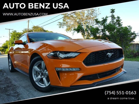 2019 Ford Mustang for sale at AUTO BENZ USA in Fort Lauderdale FL