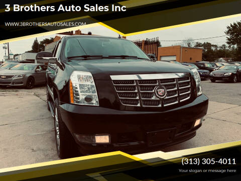 2012 Cadillac Escalade for sale at 3 Brothers Auto Sales Inc in Detroit MI