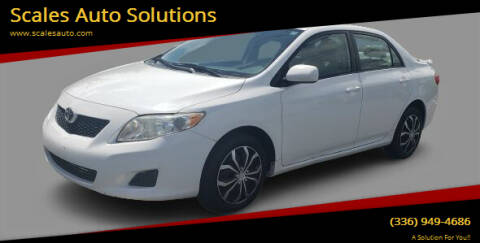 2009 Toyota Corolla for sale at Scales Auto Solutions in Madison NC