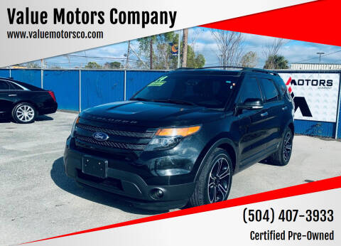 2014 Ford Explorer for sale at Value Motors Company in Marrero LA