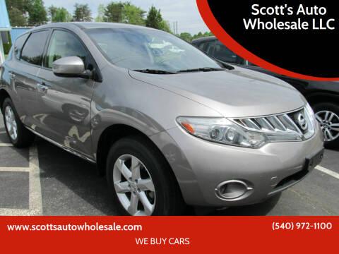 2010 Nissan Murano for sale at Scott's Auto Wholesale LLC in Locust Grove VA