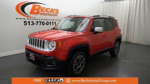 2016 Jeep Renegade for sale at Becks Auto Group in Mason OH