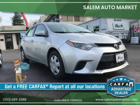 2014 Toyota Corolla for sale at Salem Auto Market in Salem OR