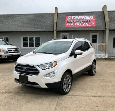 2018 Ford EcoSport for sale at Stephen Motor Sales LLC in Caldwell OH