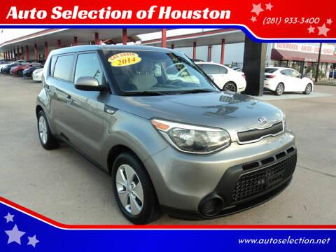 2014 Kia Soul for sale at Auto Selection of Houston in Houston TX