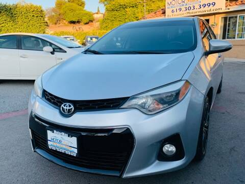 2016 Toyota Corolla for sale at MotorMax in Lemon Grove CA