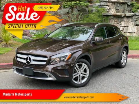 2015 Mercedes-Benz GLA for sale at Mudarri Motorsports in Kirkland WA