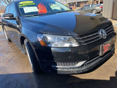 2013 Volkswagen Passat for sale at Zs Auto Sales in Kenosha WI
