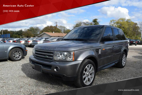 2008 Land Rover Range Rover Sport for sale at American Auto Center in Austin TX