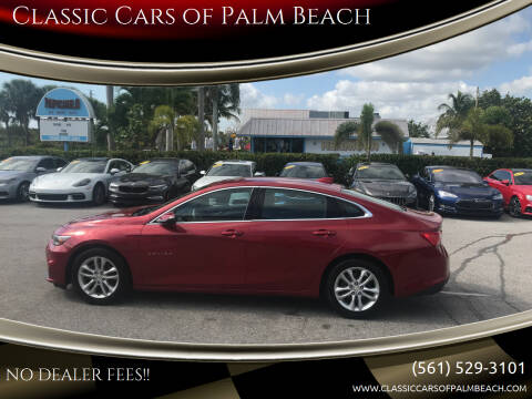 2016 Chevrolet Malibu for sale at Classic Cars of Palm Beach in Jupiter FL