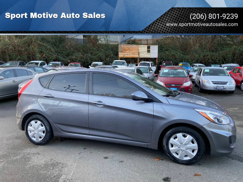2017 Hyundai Accent for sale at Sport Motive Auto Sales in Seattle WA