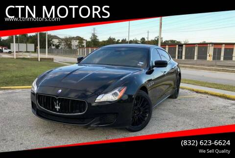 2014 Maserati Quattroporte for sale at CTN MOTORS in Houston TX