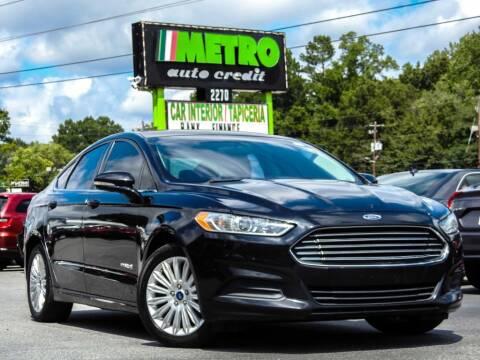 2016 Ford Fusion Hybrid for sale at Metro Auto Credit in Smyrna GA