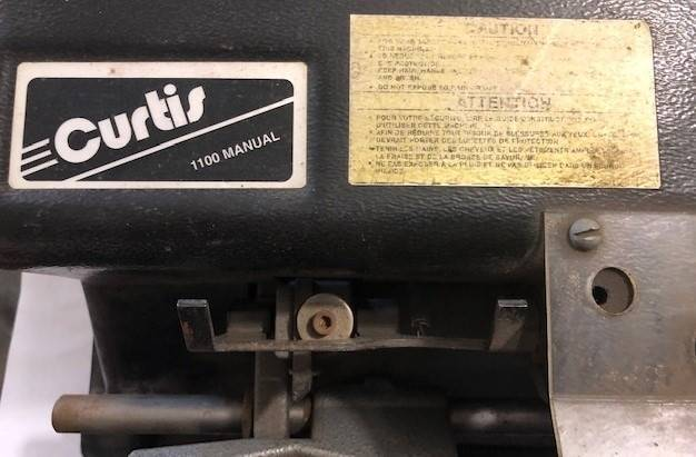 Curtis 1100 Manual Keymaker 1100/025 for sale at Geiser Classic Autos in Roanoke IL