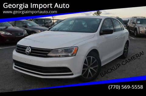 2016 Volkswagen Jetta for sale at Georgia Import Auto in Alpharetta GA