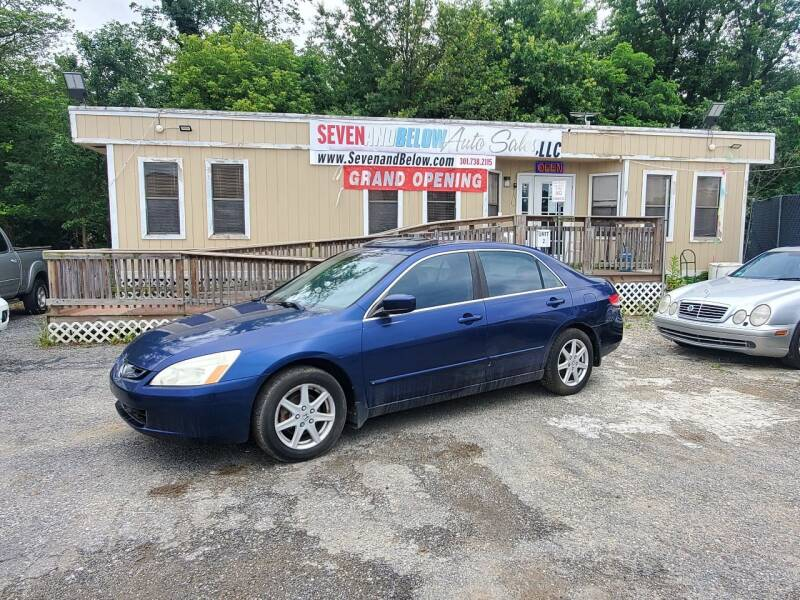 2003 Honda Accord for sale at Seven and Below Auto Sales, LLC in Rockville MD