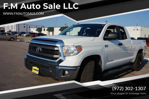 2015 Toyota Tundra for sale at F.M Auto Sale LLC in Dallas TX