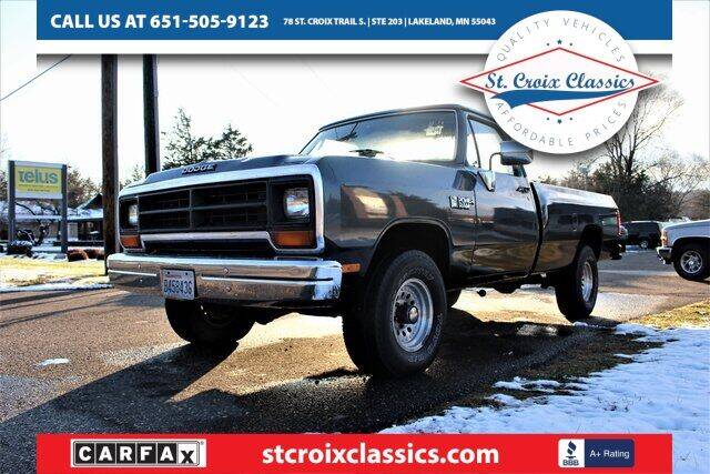 1988 Dodge RAM 150 for sale at St. Croix Classics in Lakeland MN