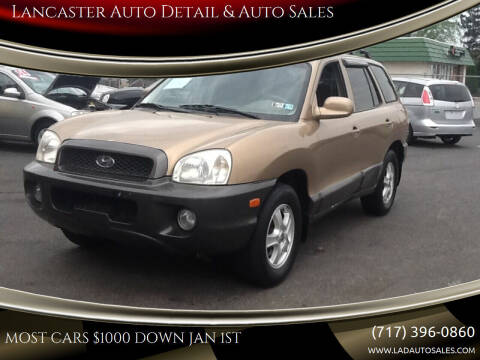 2002 Hyundai Santa Fe for sale at Lancaster Auto Detail & Auto Sales in Lancaster PA