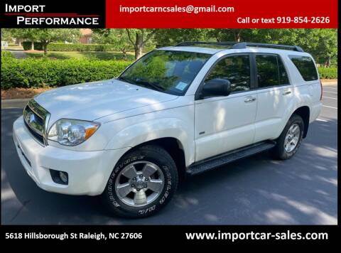 2007 Toyota 4Runner for sale at Import Performance Sales in Raleigh NC
