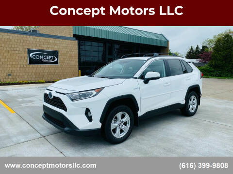 2020 Toyota RAV4 Hybrid for sale at Concept Motors LLC in Holland MI