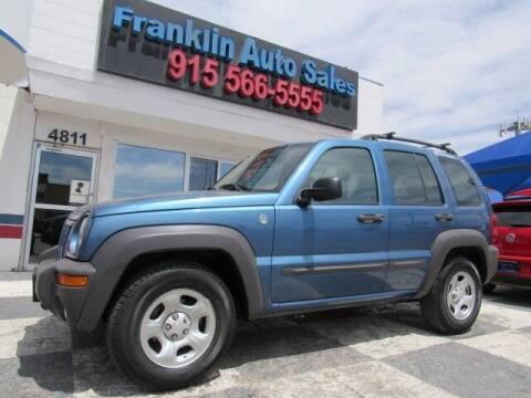 2004 Jeep Liberty for sale at Franklin Auto Sales in El Paso TX