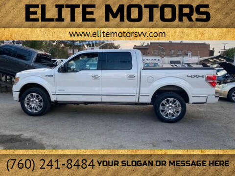 2013 Ford F-150 for sale at ELITE MOTORS in Victorville CA