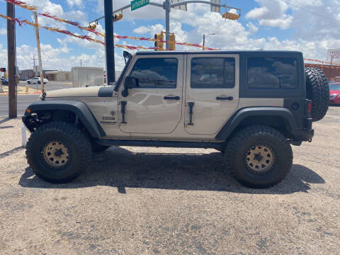 2016 Jeep Wrangler Unlimited for sale at Gabes Auto Sales in Odessa TX