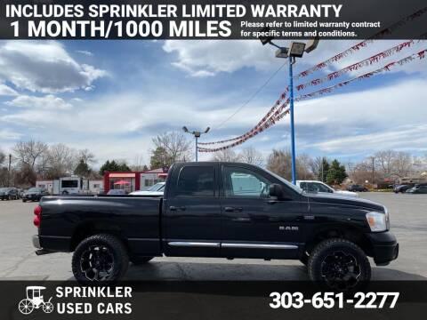 2008 Dodge Ram Pickup 1500 for sale at Sprinkler Used Cars in Longmont CO