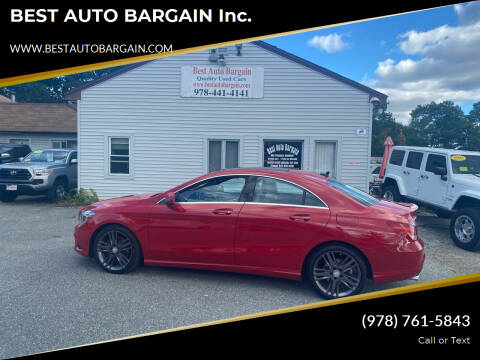 2015 Mercedes-Benz CLA for sale at BEST AUTO BARGAIN inc. in Lowell MA