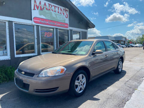 2007 Chevrolet Impala for sale at Martins Auto Sales in Shelbyville KY
