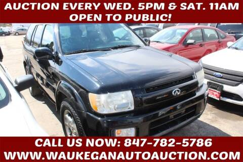 2002 Infiniti QX4 for sale at Waukegan Auto Auction in Waukegan IL