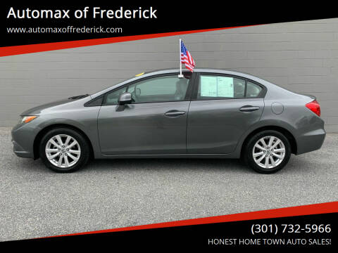 2012 Honda Civic for sale at Automax of Frederick in Frederick MD