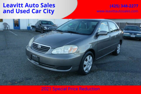 2005 Toyota Corolla for sale at Leavitt Auto Sales and Used Car City in Everett WA