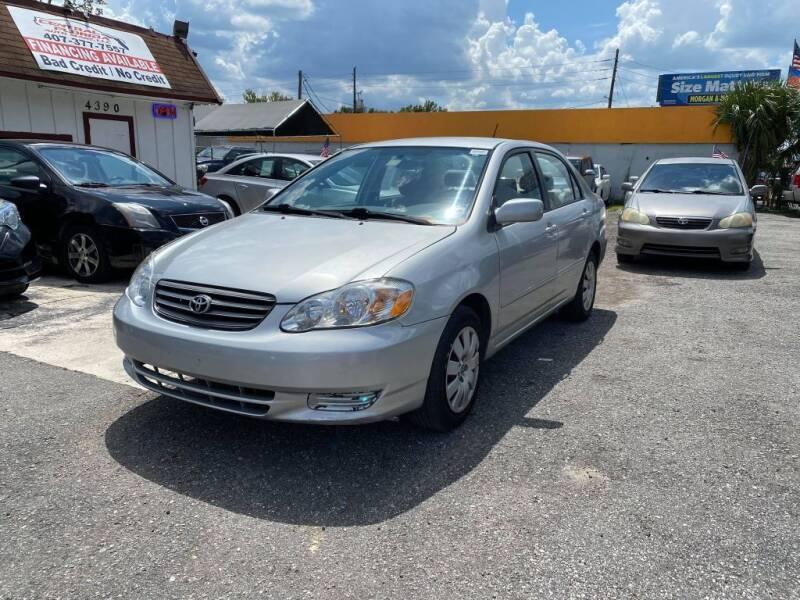 2003 Toyota Corolla for sale at CENTRAL FLORIDA AUTO MART LLC in Orlando FL