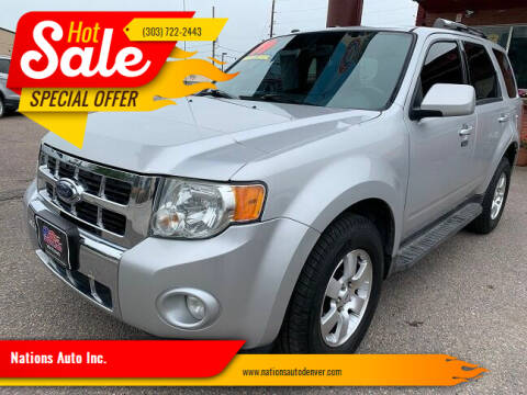 2009 Ford Escape for sale at Nations Auto Inc. in Denver CO