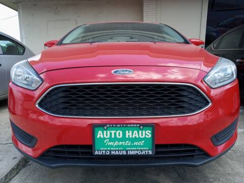 2016 Ford Focus for sale at Auto Haus Imports in Grand Prairie TX