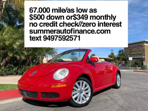 2009 Volkswagen New Beetle Convertible for sale at SUMMER AUTO FINANCE in Costa Mesa CA