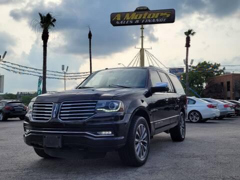 2016 Lincoln Navigator for sale at A MOTORS SALES AND FINANCE - 10110 West Loop 1604 N in San Antonio TX