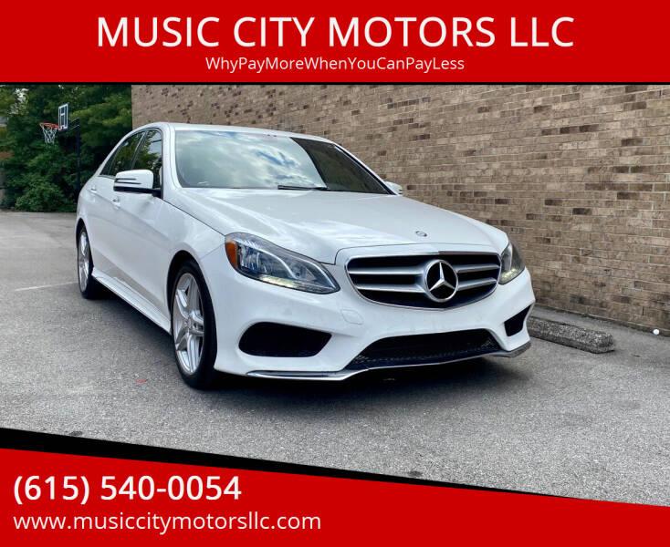 2014 Mercedes-Benz E-Class for sale at MUSIC CITY MOTORS LLC in Nashville TN