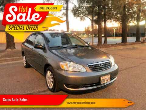 2008 Toyota Corolla for sale at Sams Auto Sales in North Highlands CA