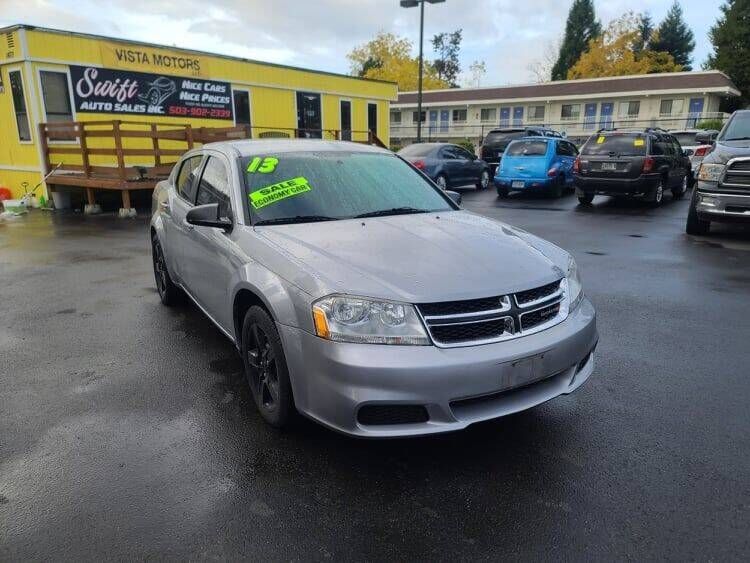 2013 Dodge Avenger for sale at SWIFT AUTO SALES INC in Salem OR