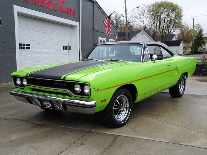 1970 Plymouth Roadrunner for sale at Great Lakes Classic Cars & Detail Shop in Hilton NY