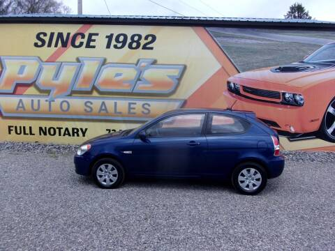2010 Hyundai Accent for sale at Pyles Auto Sales in Kittanning PA