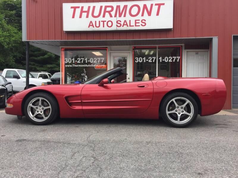 2002 Chevrolet Corvette for sale at THURMONT AUTO SALES in Thurmont MD