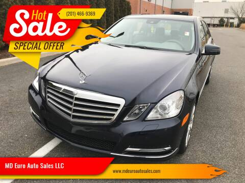 2013 Mercedes-Benz E-Class for sale at MD Euro Auto Sales LLC in Hasbrouck Heights NJ